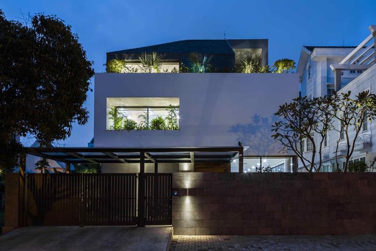 越南胡志明白色方块住宅-8