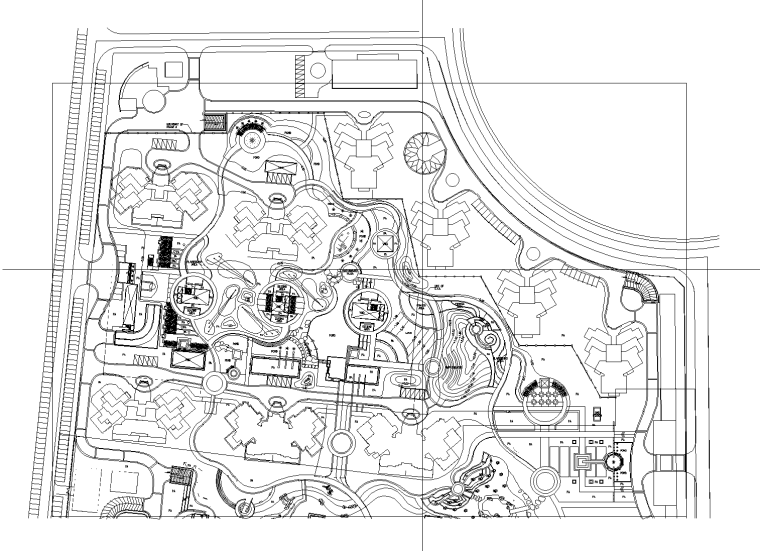 [北京]万科星园居住区全套景观设计CAD施工图