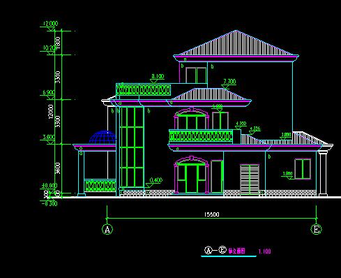 经典别墅建筑图纸_3