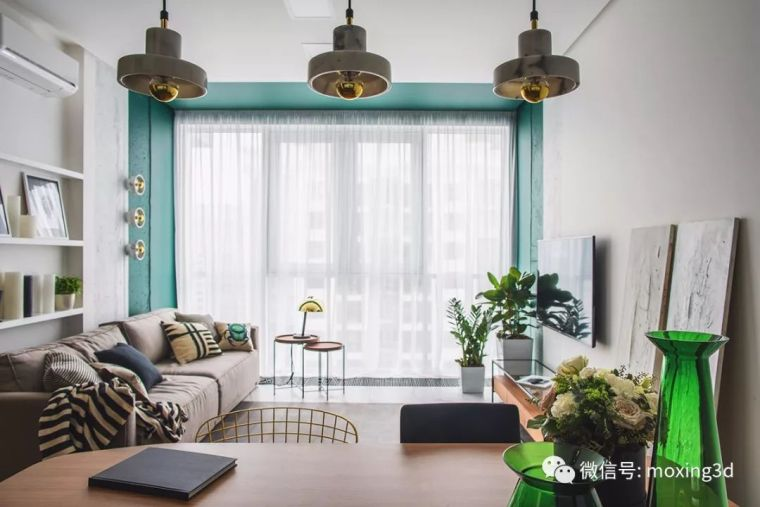 色彩灵动的北欧简约公寓,无可挑剔的美