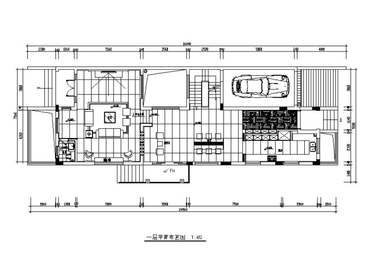 [陕西]曦城现代简约别墅设计施工图(含效果图)