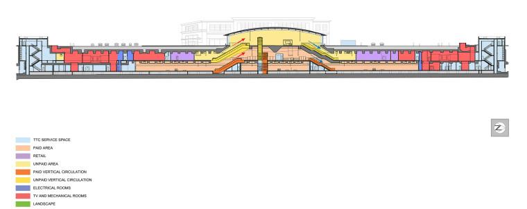 弧形镜面天花板内的地铁站-24