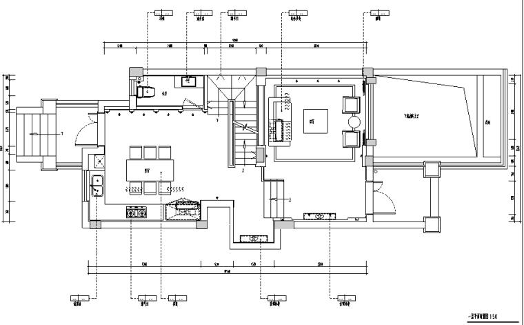 中式风格三层别墅设计施工图(附效果图+模型)