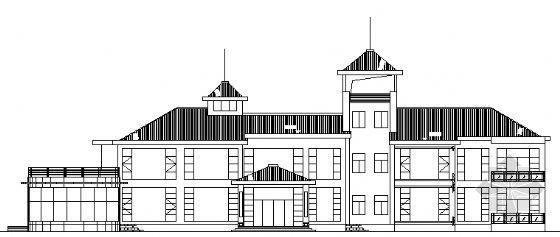 某三层小型度假旅馆建筑方案图