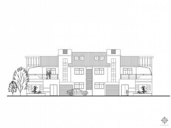 某新农村建设二层坡顶住宅方案图(含说明)