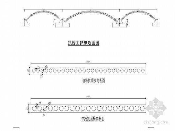 三跨上承式钢筋混凝土连拱桥竹胶板模板支架搭设方案