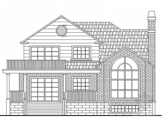 某二层美式别墅建筑扩初图