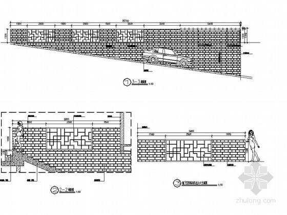 地下车库入口处花架施工图