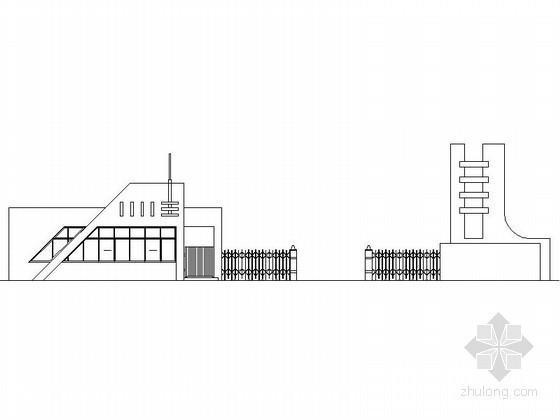 某学校大门传达室建筑施工图