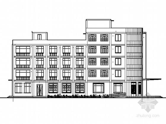 某酒店产权式公寓建筑方案图(课程设计)