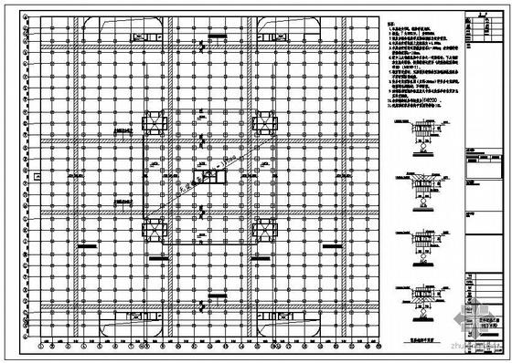 天津某室外配套地下车库结构图