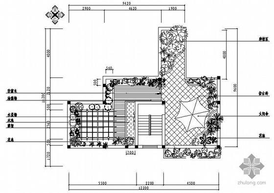[重庆]某花园别墅屋顶花园景观设计图纸