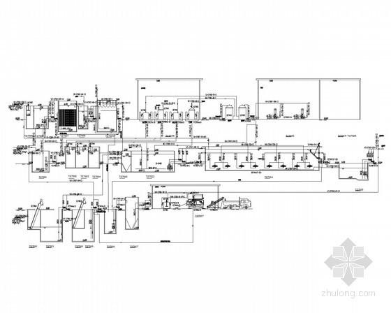 [河南]醋酸项目配套污水处理工程工艺竣工图