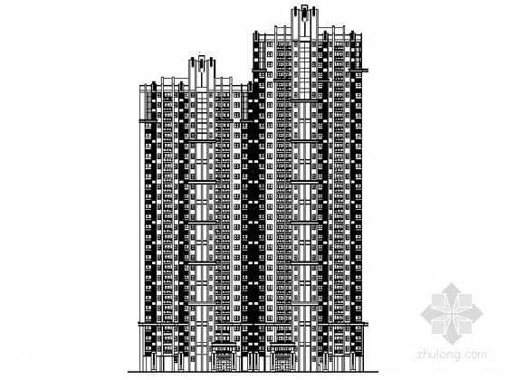[福建]高层住宅小区规划设计施工图(含290余页图纸 效果图)