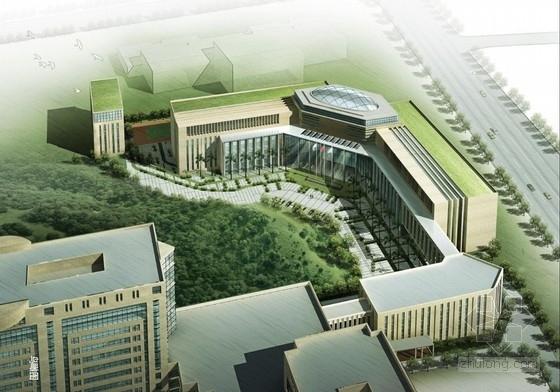 """[广东]高层连廊式石材外墙""""山景""""机关办公楼建筑设计方案文本"""