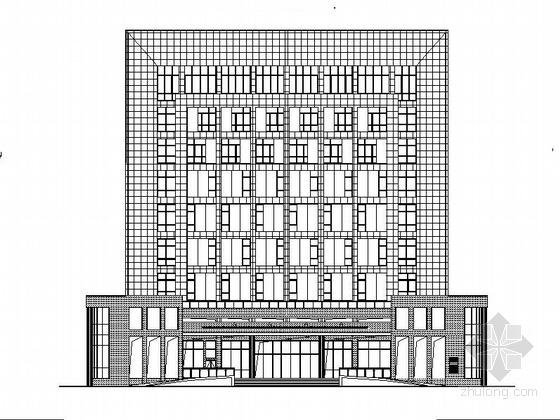[安徽]九层石材外墙县级综合档案馆建筑施工图