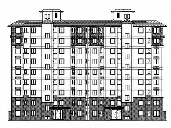 [安徽]知名地产高档现代风格住宅区建筑施工图(立面设计宏伟2015年)