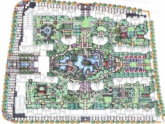 [长沙]简朴中式风格居住区景观规划设计方案