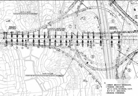 [湖北]40+60+40m变截面预应力混凝土连续箱梁桥施工图280张(桥宽40m 30米T梁)