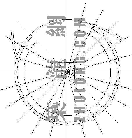 环形休息坐凳详图