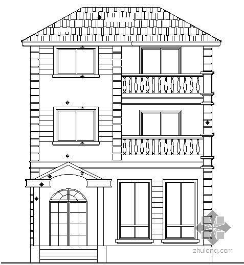 曙光小区北区独立式住宅A型建筑施工图