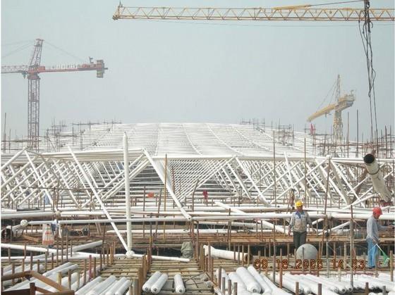 [河北]火车站钢结构无柱雨棚施工组织设计(大跨度拱形钢桁架、250余页)