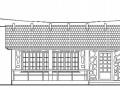 某仿古悬挑木珩条花架建筑施工图