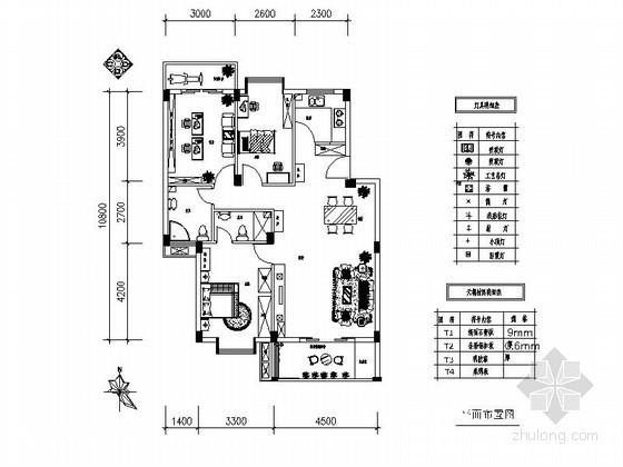 某三室一厅两卫室内设计装修图