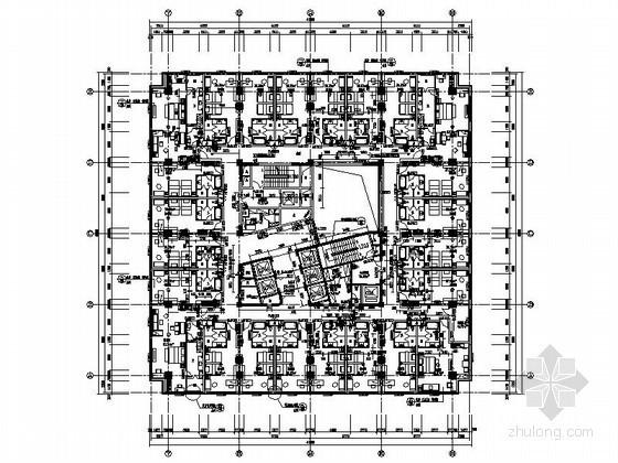 某二十二层五星大酒店平面布置图