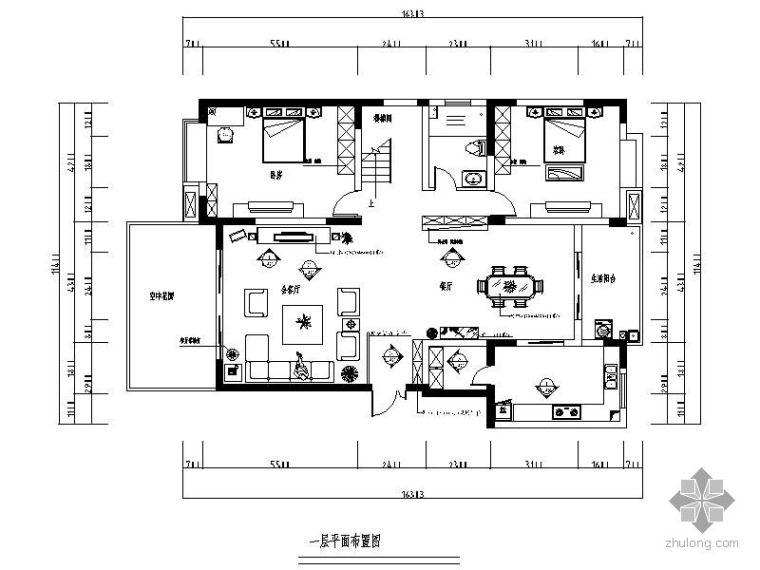 [成都]某军职楼跃层设计方案图
