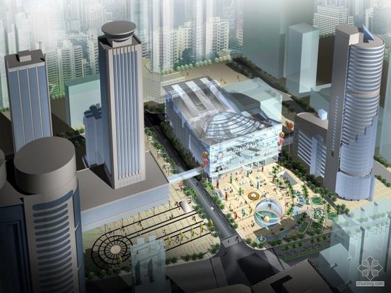 [深圳]人民南路某商业广场规划方案文本及建筑CAD方案