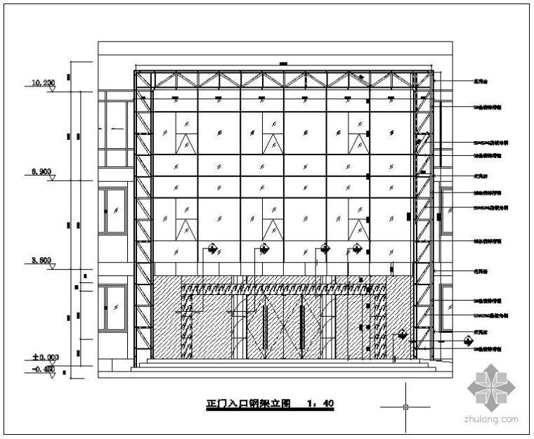 某玻璃幕墙结构节点构造详图