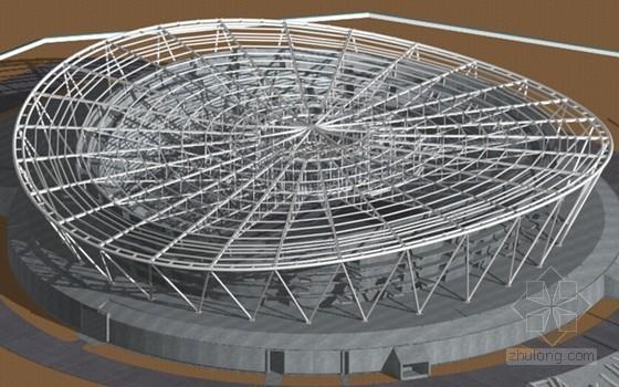 V型支撑结构资料下载-钢结构工程带单向斜拉杆的大跨度钢桁架施工技术研究