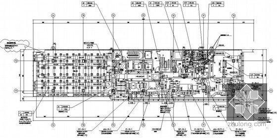 [上海]大型综合商业办公楼暖通空调全套施工图-空调通风平面图