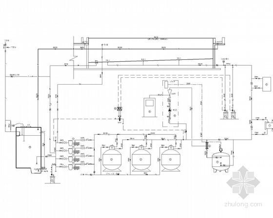 [上海]室内游泳池水处理工艺及系统安装图