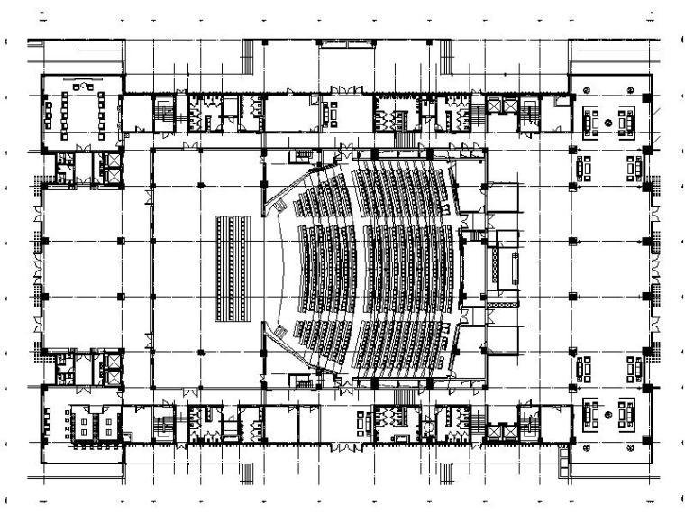 [扬州]现代简约大型豪华会议中心室内设计施工图(含效果图方案)