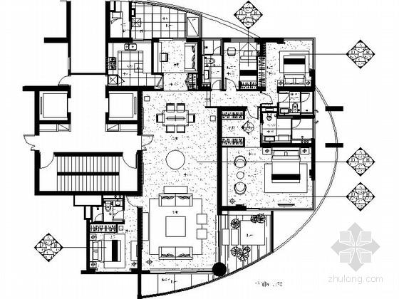 某高级私人单层别墅室内装修图(含实景)