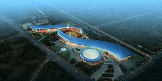 [江苏]椭圆形钢结构乙级大屋面体育馆建筑设计方案文本
