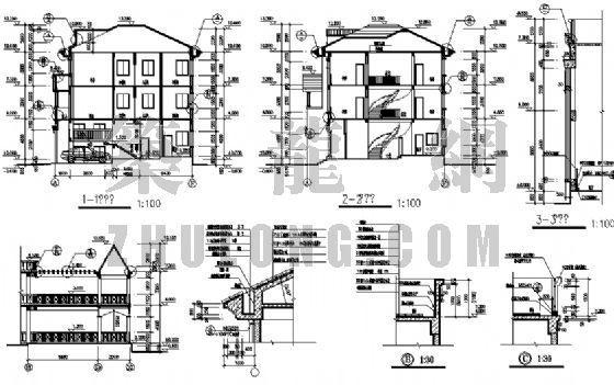 三层别墅建筑施工图-3