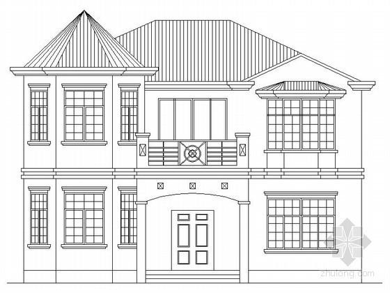 某二层南入户欧式别墅建筑扩初图(带效果图)