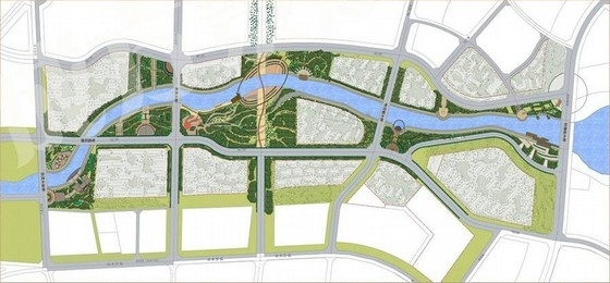 [内蒙古]滨水河道景观概念设计方案