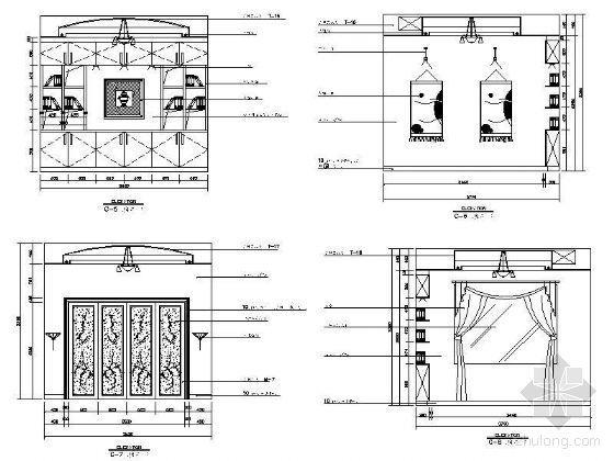 欧式别墅书房立面设计图