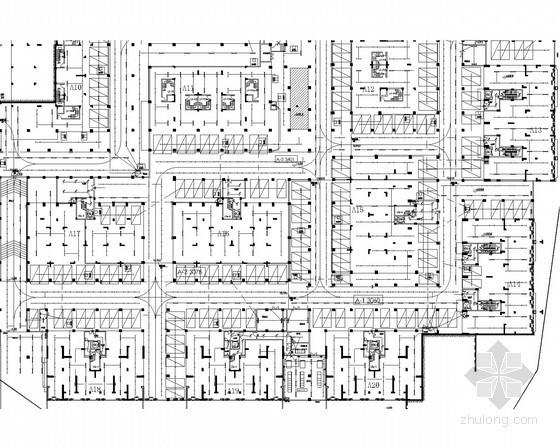 [广东]55万平生态豪华住宅区全套强弱电电施图172张(配套幼儿园 多种建筑类型)
