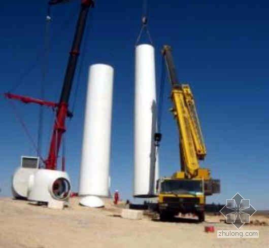 某风力发电吊装施工照片