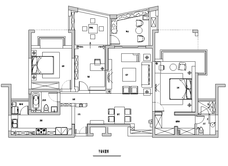 [江苏]现代简约原木三居室住宅空间设计施工图(附效果图)