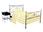 简单铁艺床3D模型下载