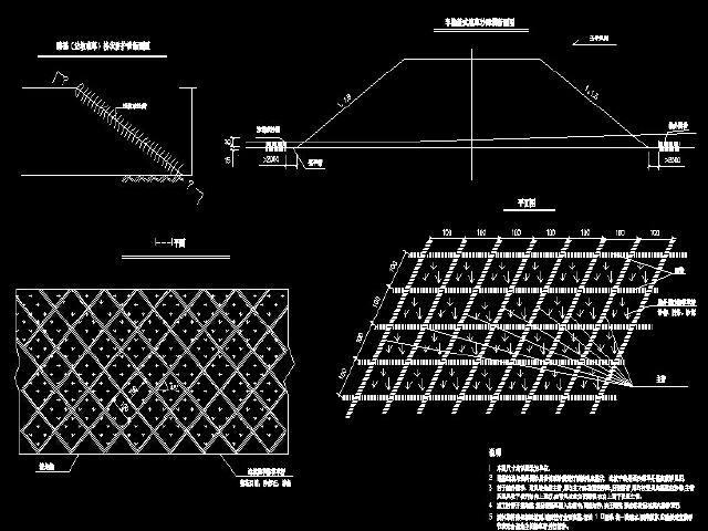 边坡防护设计图纸52张CAD