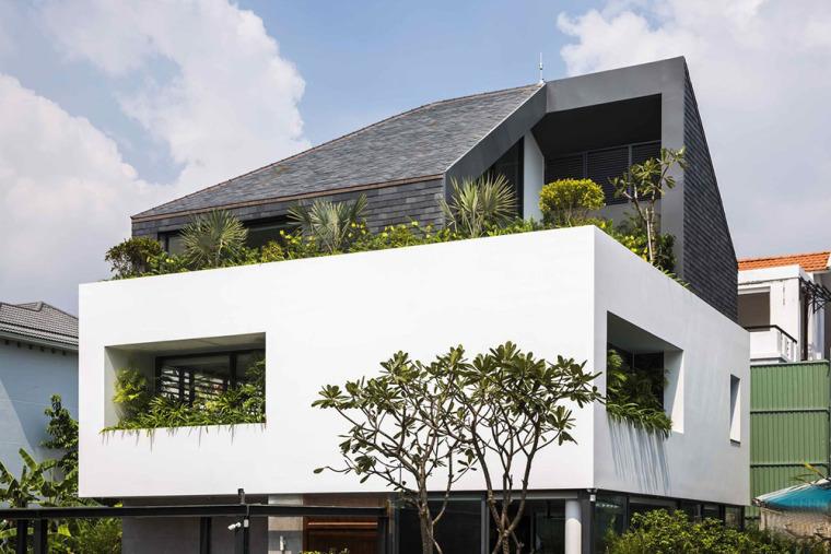 越南胡志明白色方块住宅-4