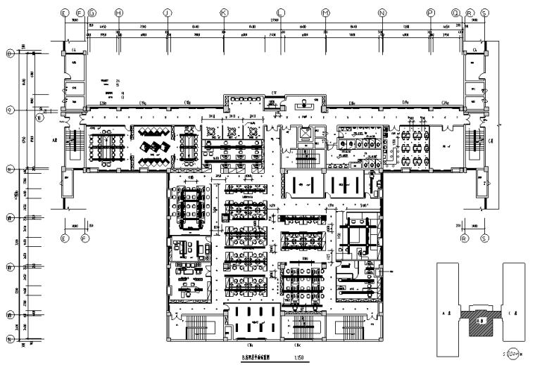 现代简约办公空间设计全套施工图效果图(某知名装饰公司)