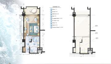 [三亚]某豪华酒店样板房方案设计施工图(含效果图及软装)